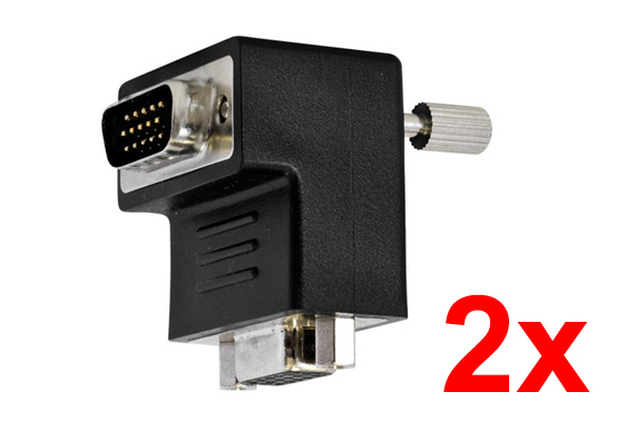 2x DOWN FACING - VGA RIGHT ANGLE ADAPTOR