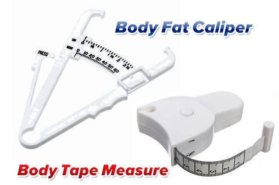 150cm Retractable Body Fitness Measuring Tape Ruler and Body Fat Caliper