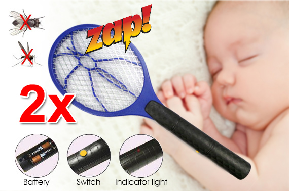 2x Mosquito/Bug Electronic Zapper Bat