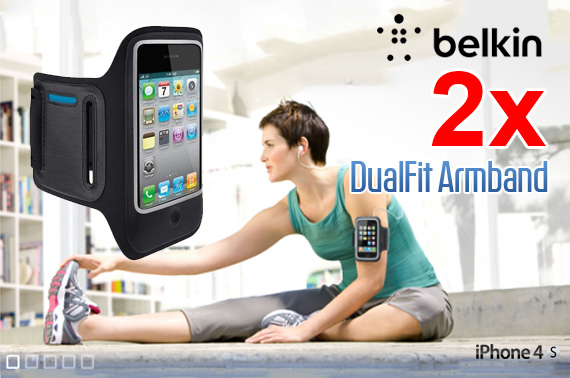 2x Belkin DualFit Armband for iPhone 4/4S