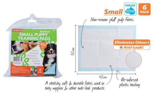 6pc Small Puppy Training Pad Set