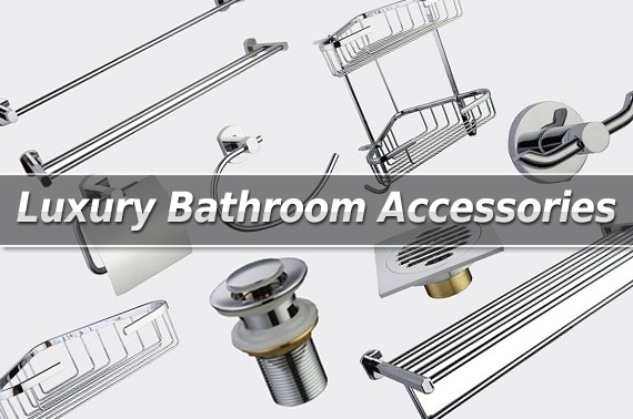 Luxury Brass / Chrome Plated Finish Bathroom Accessories