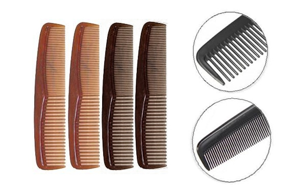 Hair Essentials - Men's Pocket Hair Combs 4-Pack