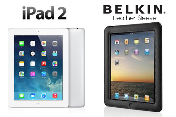 Refurbished Apple iPad 2 16GB WiFi with Belkin Leather Sleeve