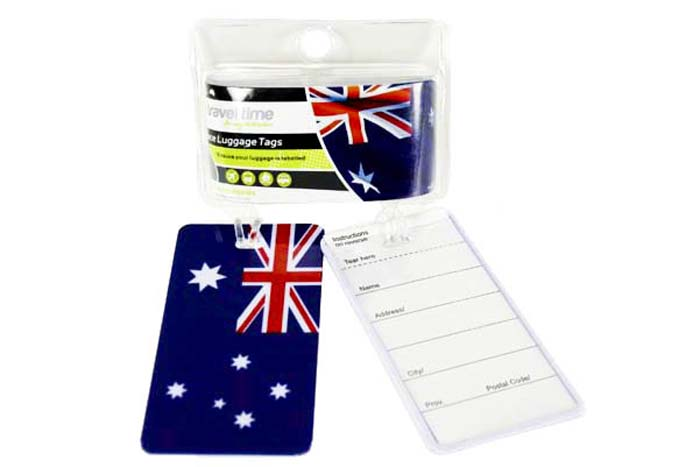 2pc Luggage Tag Set with Australian Flag Printed