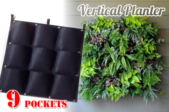 9-Pocket Vertical Garden Planter