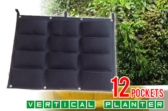 12-Pocket Vertical Garden Planter