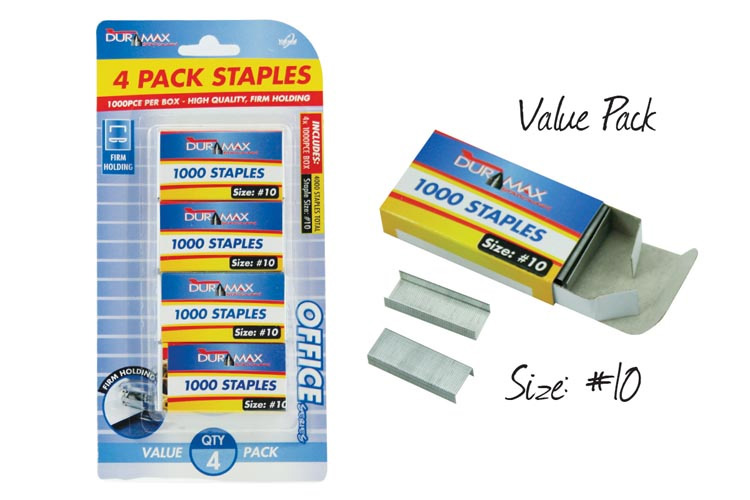 4000pc Staple Pack - Size #10