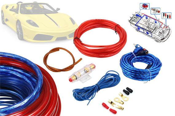 1500W Car Audio AMP Wiring Kit