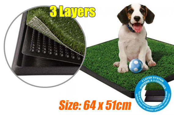 Large Indoor Portable 3-Layer Dog Toilet Training Mat