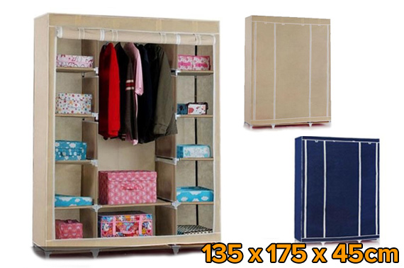 Easy To Assemble Portable Large Space Storage Wardrobe