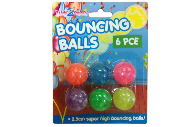 6pc Bouncing Ball Pack