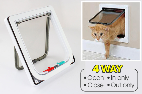 4 Way Lockable Pets Small Flap Door