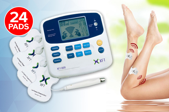 Electrical Body Muscle Stimulator & Massager XFT-320 + 24 Massage Pads