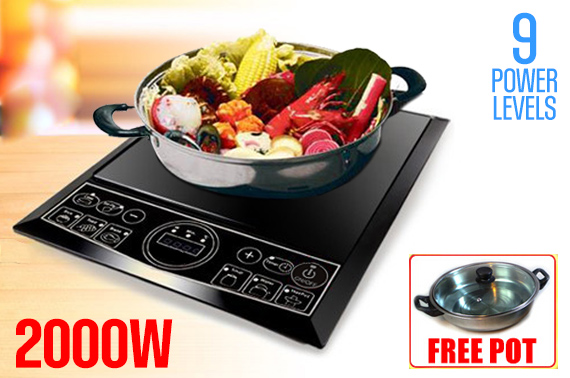 2000W Portable Induction Cooker With a Free Pot