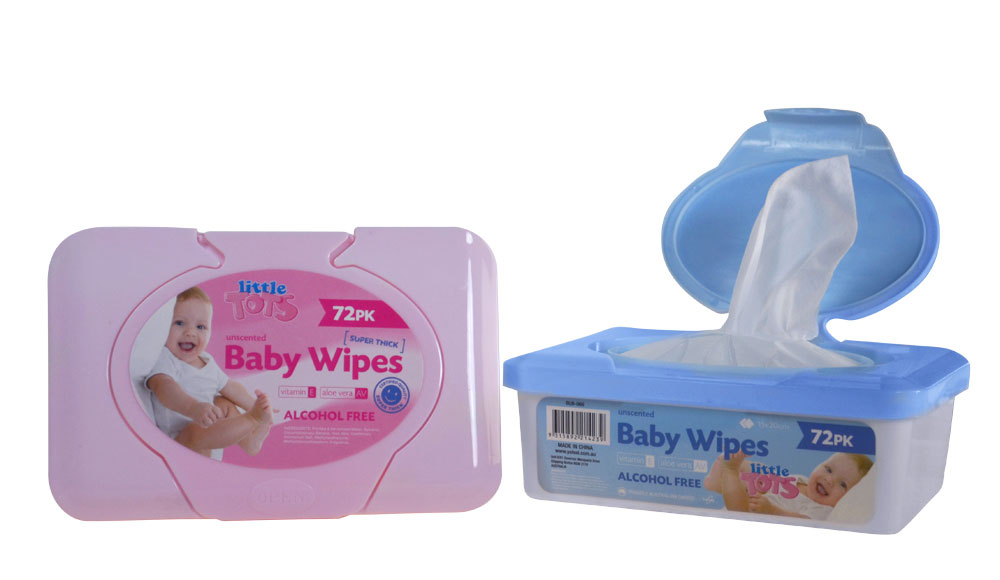 72pk Baby Wipes Alcohol Free