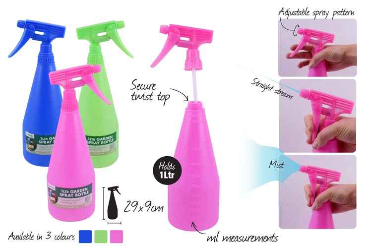 1 litre garden spray bottle