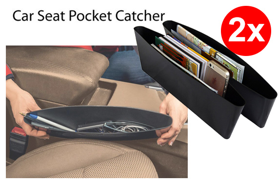 Set of 2 Car Seat Pocket Catchers Organizers