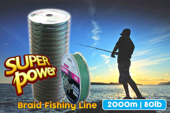 20x 100m Super Power PE Braid Fishing Line