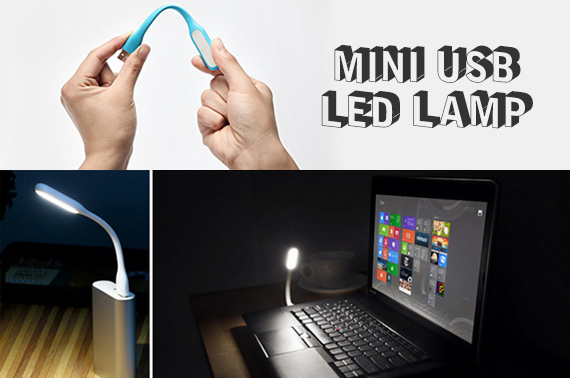 Bendable Mini USB LED Portable Lamp (Black Colour)