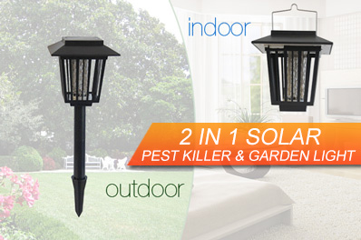 Dual Power Indoor / Outdoor Solar Power Pest Killer and Garden Light
