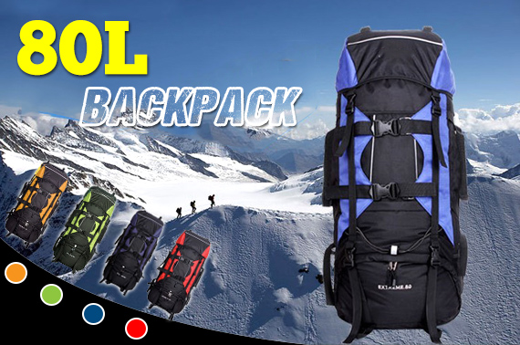80L Extra Load Outdoor Backpack (Random Colour)