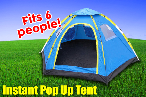 6 Person Instant Tent Pop-Up Camping Tent