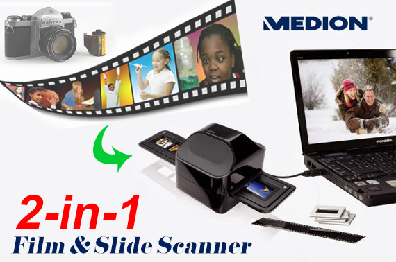 Factory Repacked Medion 2-in-1 Film and Slide USB Scanner