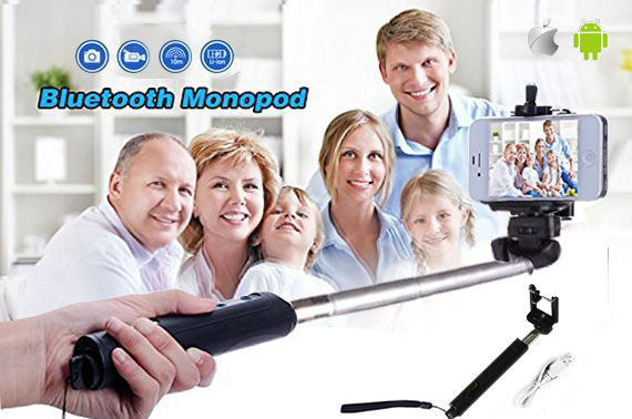 Extendable Handheld Bluetooth Selfie Stick Monopod