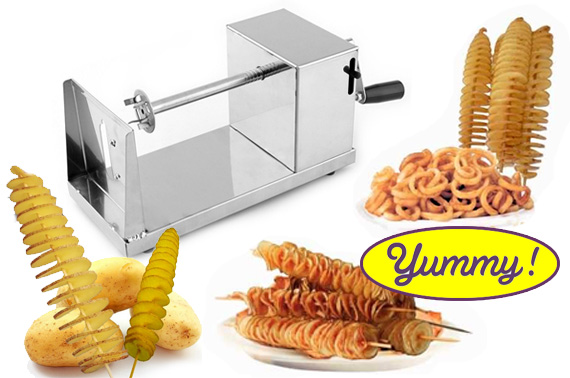 Stainless Steel Spiral Potato Twister Slicer Machine