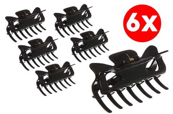 6x Hair Essentials - Large Claw Grip