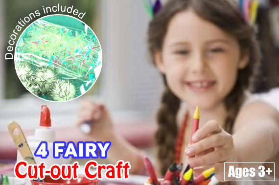 FREE Ozstock Day: 2 x Children's Cut-out Craft - FAIRIES Pack