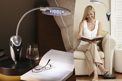 Stylish Dual Function Cordless Anywhere Desk/Floor Lamp