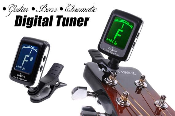 Digital Mini Clip-on Guitar Tuner w/ LCD Display