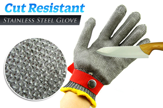 Cut Resistant Stainless Steel Mesh Gloves