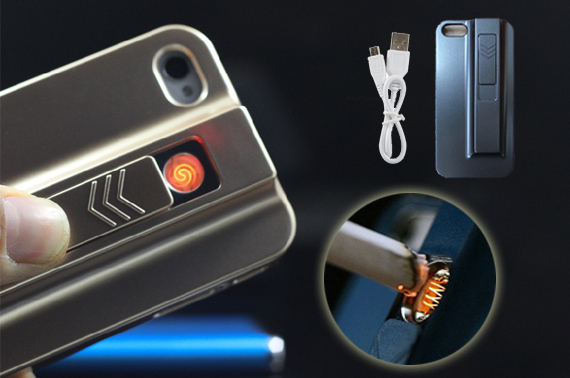 2x New iPhone Case With Cigarette Lighter Gadget for iPhone 5/5S
