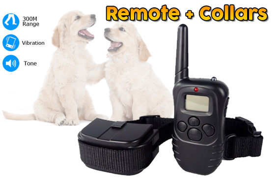 LCD Display Anti-Bark Training Remote Collars for Dogs