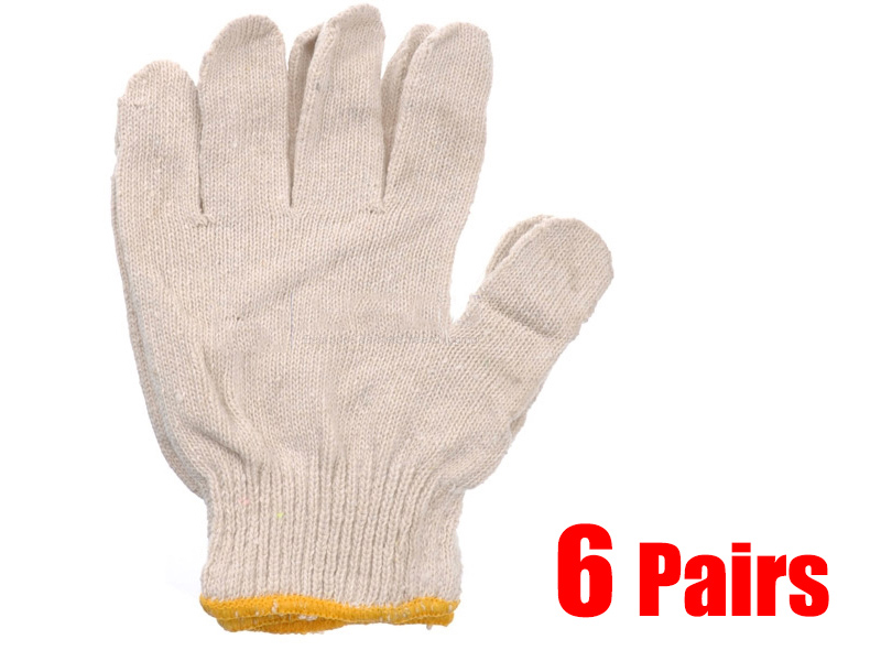 6 Pairs of Heavy Duty Working Glove (Value Pack)