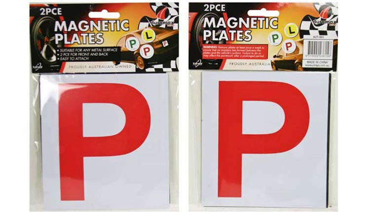 4x Magnetic Red P P1 Plate