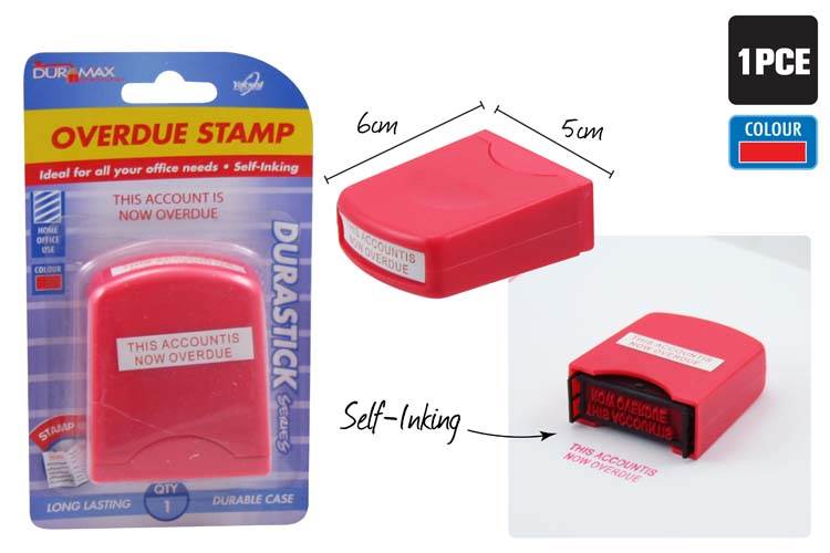 ACCOUNT OVERDUE Stamp - Self Inking