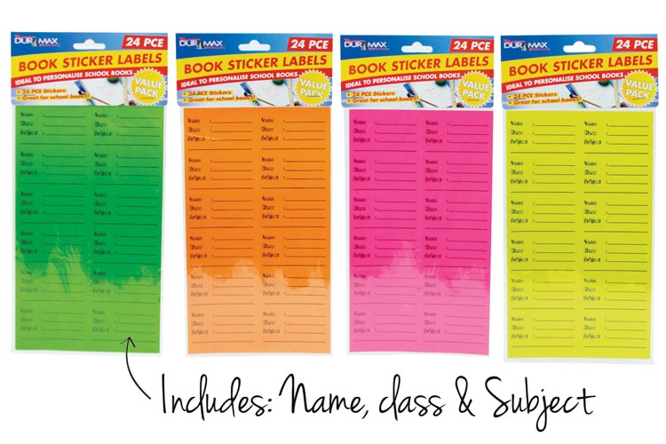 24pcs School Book Label Stickers