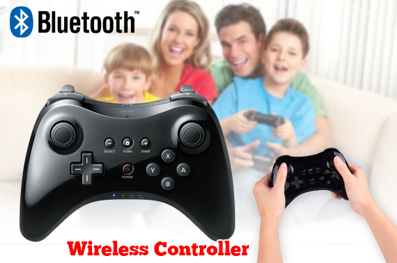 Wireless Bluetooth Game Controller for Nintendo Wii U