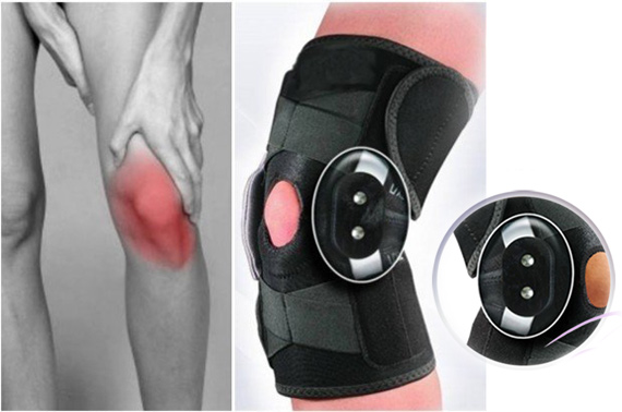 Double Metal Hinged Full Knee Support Brace