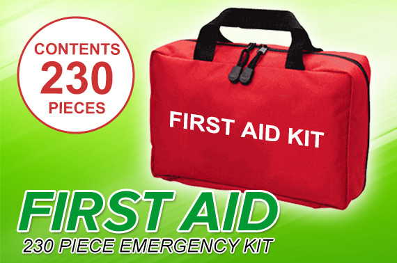 230 Pieces Emergency First Aid Kit - ARTG Registered