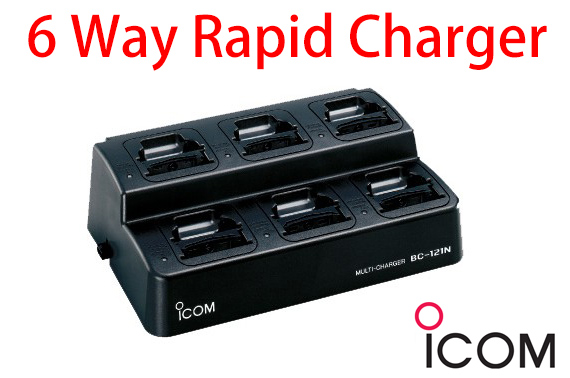 ICOM 6-Way Rapid Charger BC121N