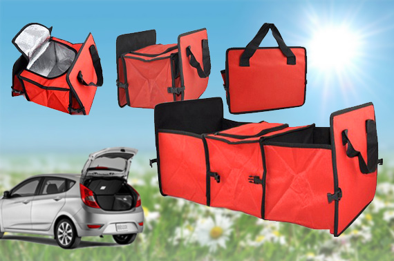Foldable 2 in 1 Heavy Duty Car Boot Organiser