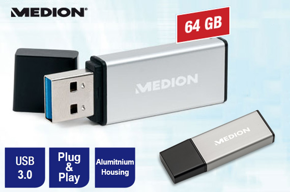Medion 64GB USB 3.0 Flash Drive Memory Stick