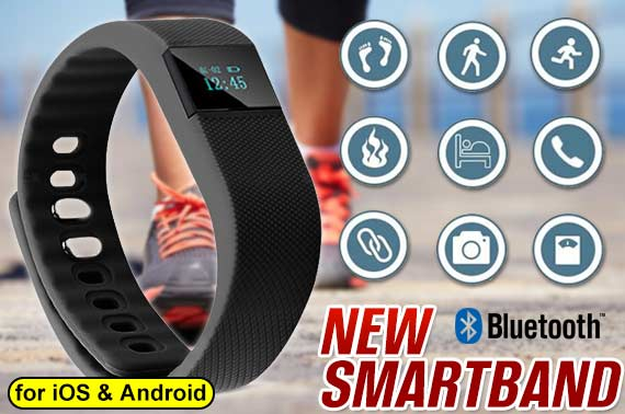 Bluetooth 4.0 Smart Bracelet Wristband Watch/Fitness Tracker