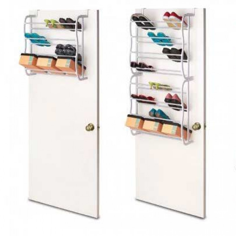 36-Pair Over-the-Door Hanging Shoe Rack Holder