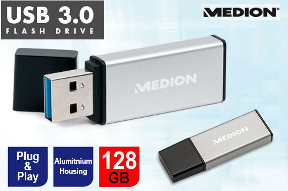 Medion 128GB USB 3.0 Flash Drive Memory Stick